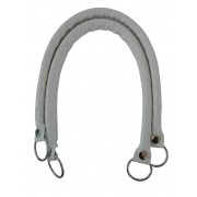 Handles for Handbag in Faux Leather - Color White