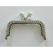 Bag Handle with White Pearls