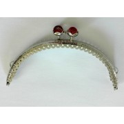 Bag Handle with Pink Powder Pearls
