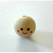 Wood Head for Dolls - Size 2,5 cm