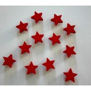 Red Wooden Star - Size 2 cm