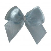Satin Bow Application - Light Blue