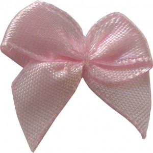 Satin Bow Application - Pink