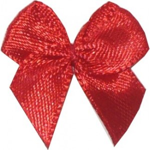 Satin Bow Application - Red