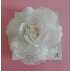 Flowers for Dresses and Hair - Tulle Cream Rose