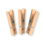 Natural Wood Pegs 4,5 cm - Pack of 36 pieces