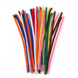 Chenille Pipe Cleaners - 8mm diameter - 50cm