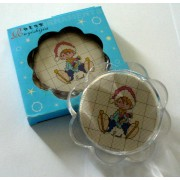 Plastic Flower Coaster Ready to Cross Stitch
