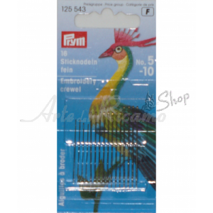 Prym - Embroidery Crewel Needles, with Gold Eye - Assorted 5-10