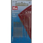 Prym - Hand Sewing Needles Sharps - With Gold Eye 1-5