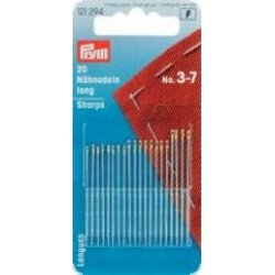 Prym - Hand Sewing Needles Sharps - With Gold Eye 3-7