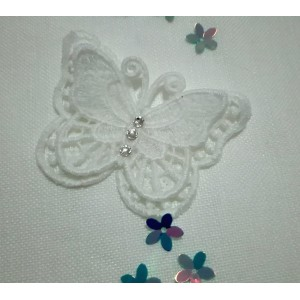 Butterfly Lace Decoration - White