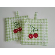Square Potholders - Cherry