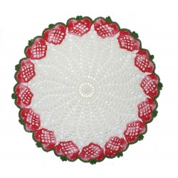 Crochet Tray Covers - Strawberries
