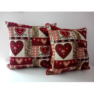 Pillowcase - Patchwork Hearts