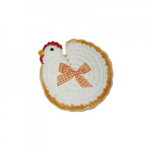 Crochet Potholder - Chicken