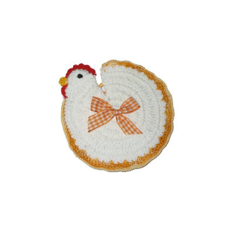 Presina uncinetto gallina - Fiera biancheria per la casa ...