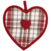Potholder Heart Country Style