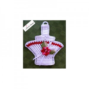 Crochet Potholder - Flower Basket