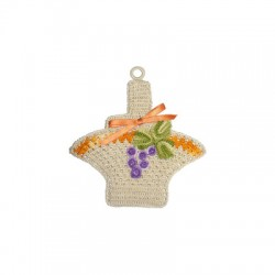 Crochet Potholder - Grape Basket