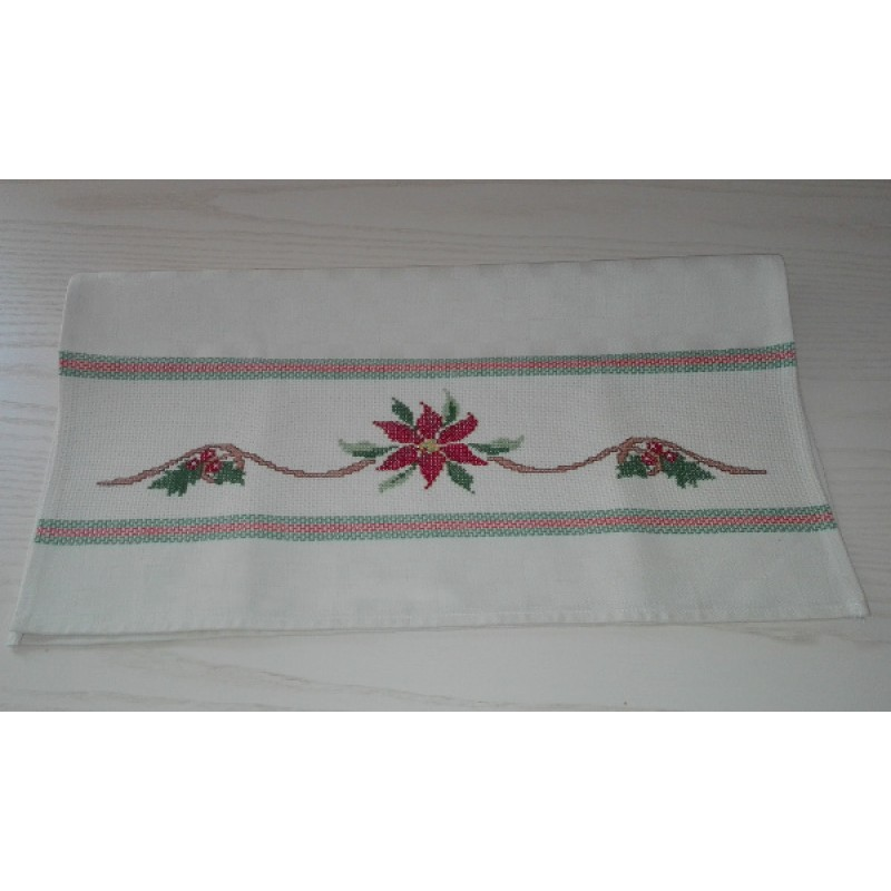 Christmas Kitchen Towel Poinsettia