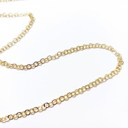 Metal Round Chain Gold Color - Pack of 10 meters