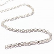 Metal Round Chain Silver Color - Pack of 5 meters