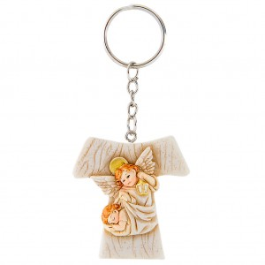 Tao Keychain with Angels