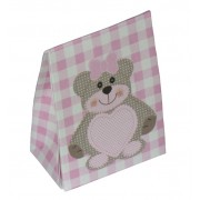Newborn Favor Box - Pink Teddy Bear