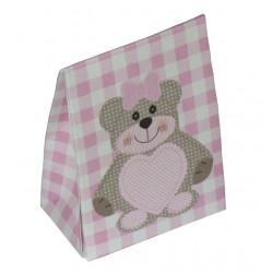 Scatola Portaconfetti Orsetto Teddy Bear - Rosa