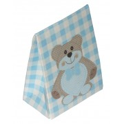 Newborn Favor Box - Light Blue Teddy Bear