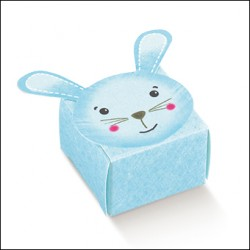 Favor Box for Newborn - Light Blue Rabbit