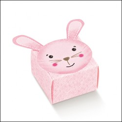 Favor Box for Newborn - Pink Rabbit