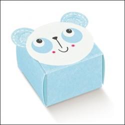 Favor Box for Newborn - Light Blue Panda