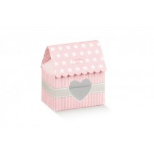 Newborn Favor Box - Pink House