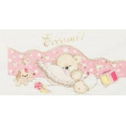 Mini Confetti Baby Card - Teddy Bear with Pillow