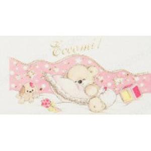 Mini Confetti Baby Card - Teddy Bear with Pillow
