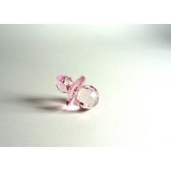 Chupete Transparente para Favores - Rosa