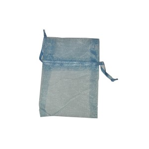 Light Blue Organza Bag - Size 7.5 x10 cm