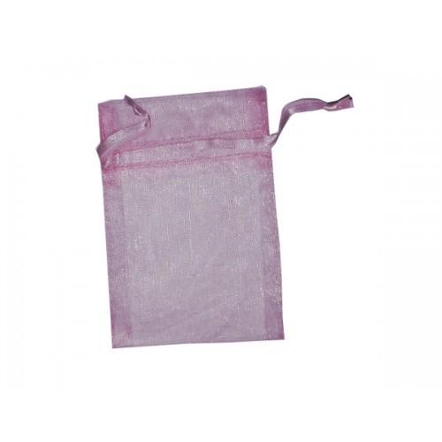 Sacchetto in Organza - Dimensioni 7.5 x10 cm - Rosa