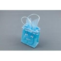 Plisse Baby Bag - Light Blue