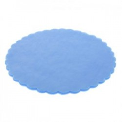 Scalloped Round Tulle  - Light Blue