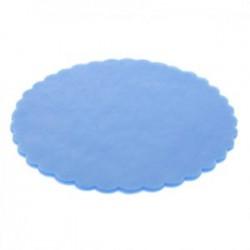 Scalloped Round Tulle  - Light Blue