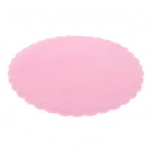 Scalloped Round Tulle  - Pink