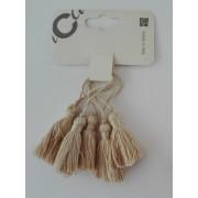 Borla Decorativa de Viscosa - Dimension 5 cm - Color Beige