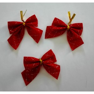 Christmas Gift Bow - Red and Gold