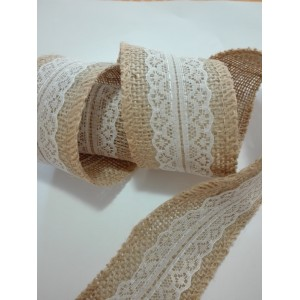 Decorative Juta Ribbon with Lace