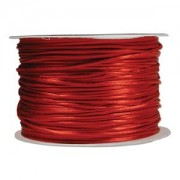Rattail Cord - Red Satin Cord