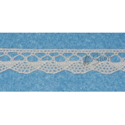 Cream Bobbin Lace Border - 1 cm