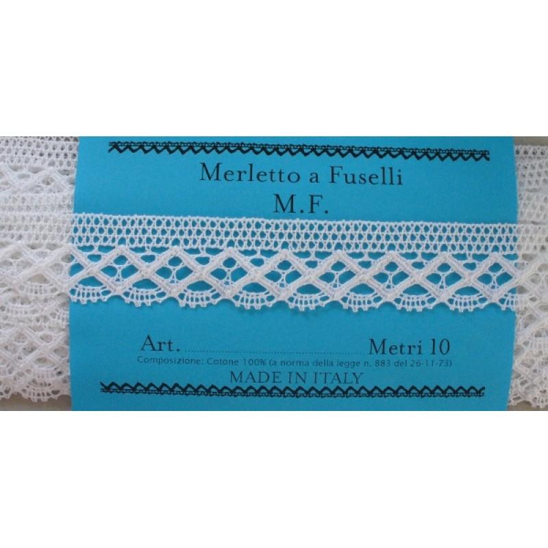 Merletti E Pizzi A Metraggio.Art 118 Merletto A Fuselli Bianco Altezza 3 00 Cm